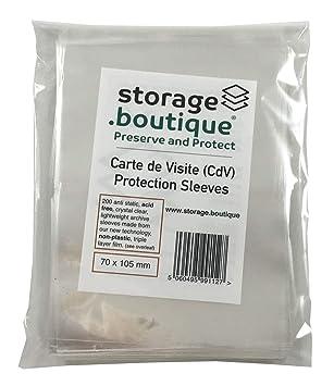Storageboutique Carte De Visite CdV Protection Sleeves Crystal Clear Acid