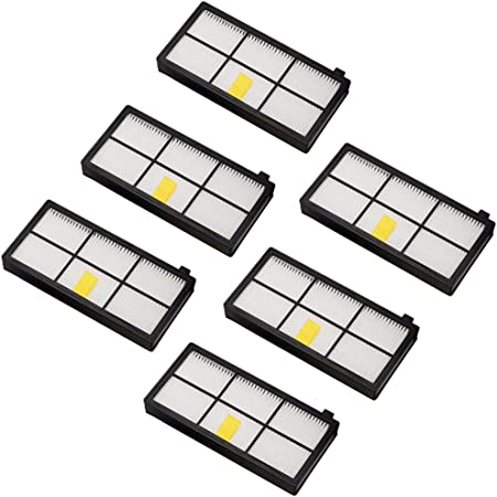 Amoy Accesorios de filtros para iRobot Roomba serie 800 y 900 980 966 960 865 870 875 876 Recambios, 6 piezas: Amazon.es: Hogar
