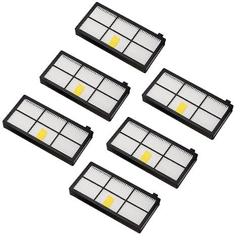Amoy Accesorios de filtros para iRobot Roomba serie 800 y 900 980 966 960 865 870