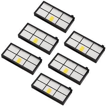 Amoy Accesorios de filtros para iRobot Roomba serie 800 y 900 980 ...