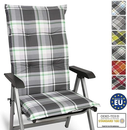 Beautissu Cuscino per Sdraio, poltrone e sedie da Giardino Sunny MK Verde Menta 120x50x6cm Extra Comfort Colori Resistenti ai Raggi UV
