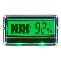 DROK DC8-63V Indicador digital de capacidad de la batería, dos cables 12 V/24 V/36 V/48 V monitor de batería de ácido de plomo con visualización protectora LCD verde