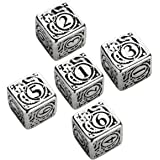 Steampunk Metal D6 Dice, Set of 5