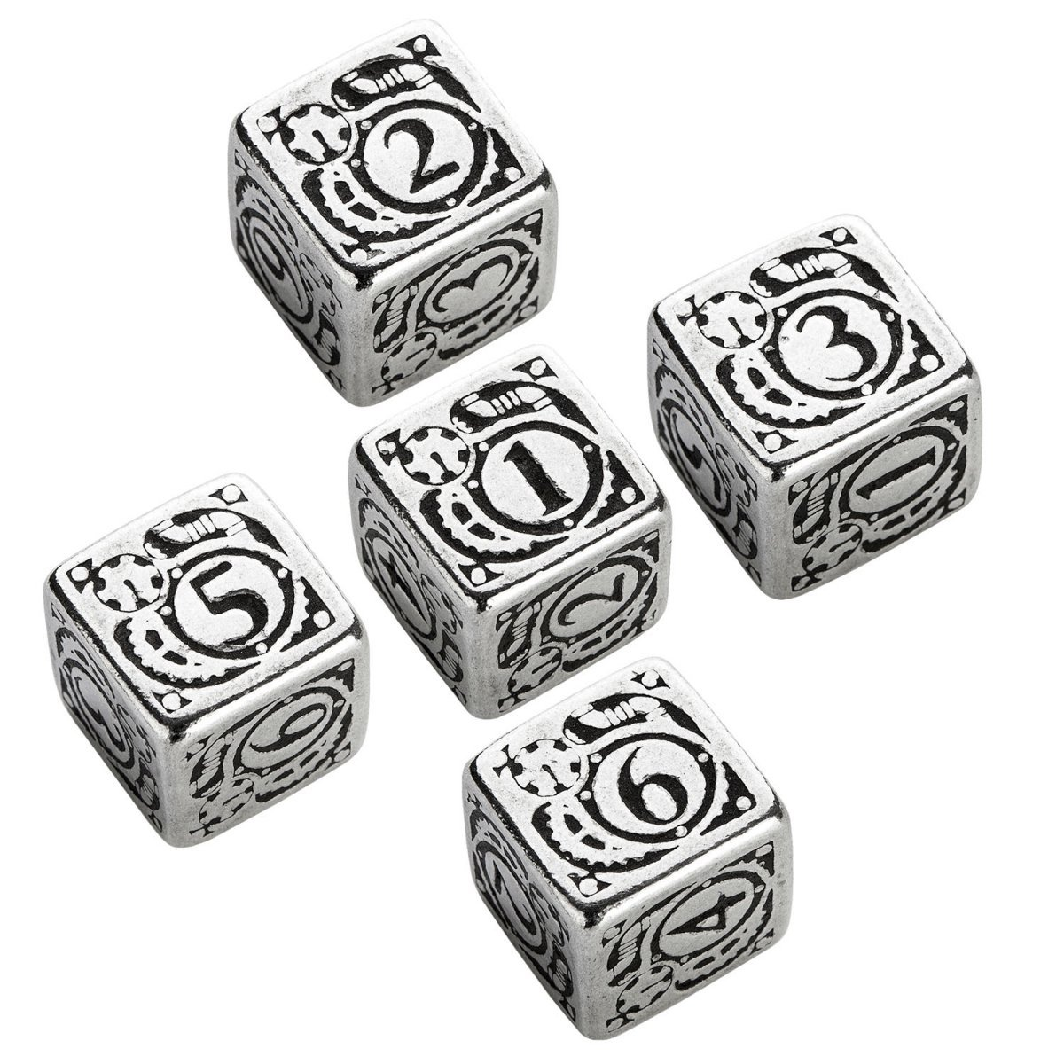 Q-Workshop QWS 56MST35 Steampunk Metal D6 Dice, Set of 5: Amazon.ca: Toys &  Games