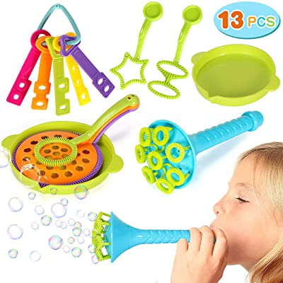 Qunan 13 Pack Bubble Wands Bubbles Party Favors Supplies Summer Outdoor Indoor Activity Use Toys: Toys & Games