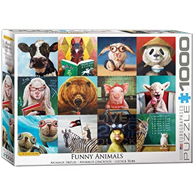 EuroGraphics Funny Animals by Lucia Heffernan 1000-Piece Puzzle: Toys & Games
