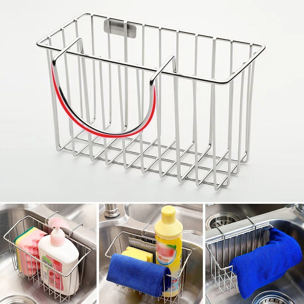 Sink Shelf Dishcloth Soap Sponge Drain Rack Bathroom Holder Kitchen Storage Hot by Agordo