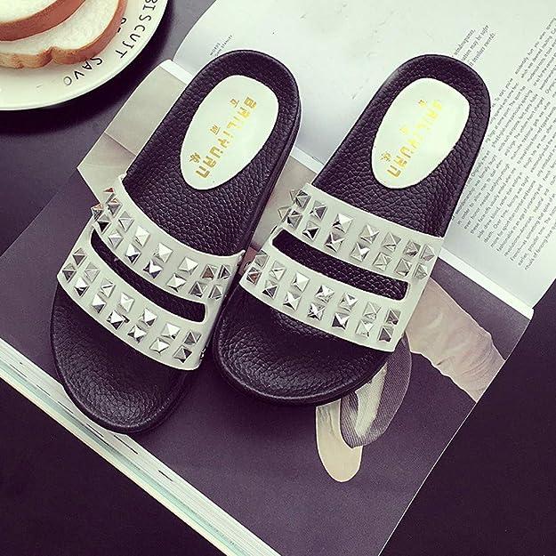 Bohemia mujer Zapatillas suela Dragon868 suave goma con zapatos de de qUVpGSMz