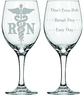 20 oz registered nurse good day bad day donu0027t even ask - Etched Wine Glasses