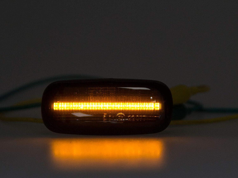 LETRONIX Module clignotant lat/éral /à LED pour clignotant Noir fum/é CRX del Sol type EH6//EG2 1992-1998 S2000 1999-2009 avec marque de contr/ôle E