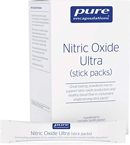 Pure Encapsulations – Nitric Oxide Ultra Stick Packs – Hypoallergenic Supplement Supports Nitric Oxide Production and Healthy Blood Flow – 30 Packets