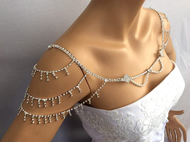 Amazoncom Bridal Shoulder Necklace Wedding Shoulder Jewelry