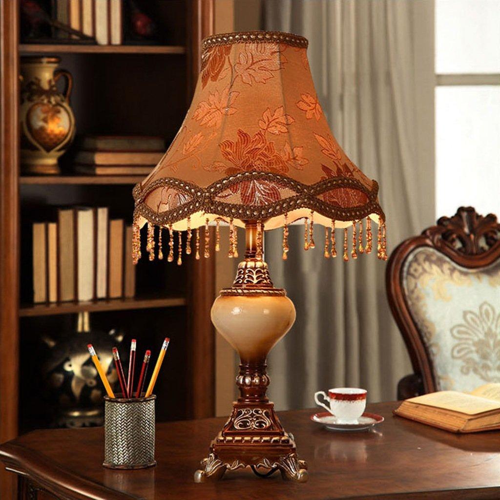Gartentischlampe im europäischen Stil   Wohnzimmer Harz Nachttischlampe Nachttischlampe Nachttischlampe Schlafzimmer Studie E27 (Farbe   A) B07GLS35M1 | Ideales Geschenk für alle Gelegenheiten  70e781