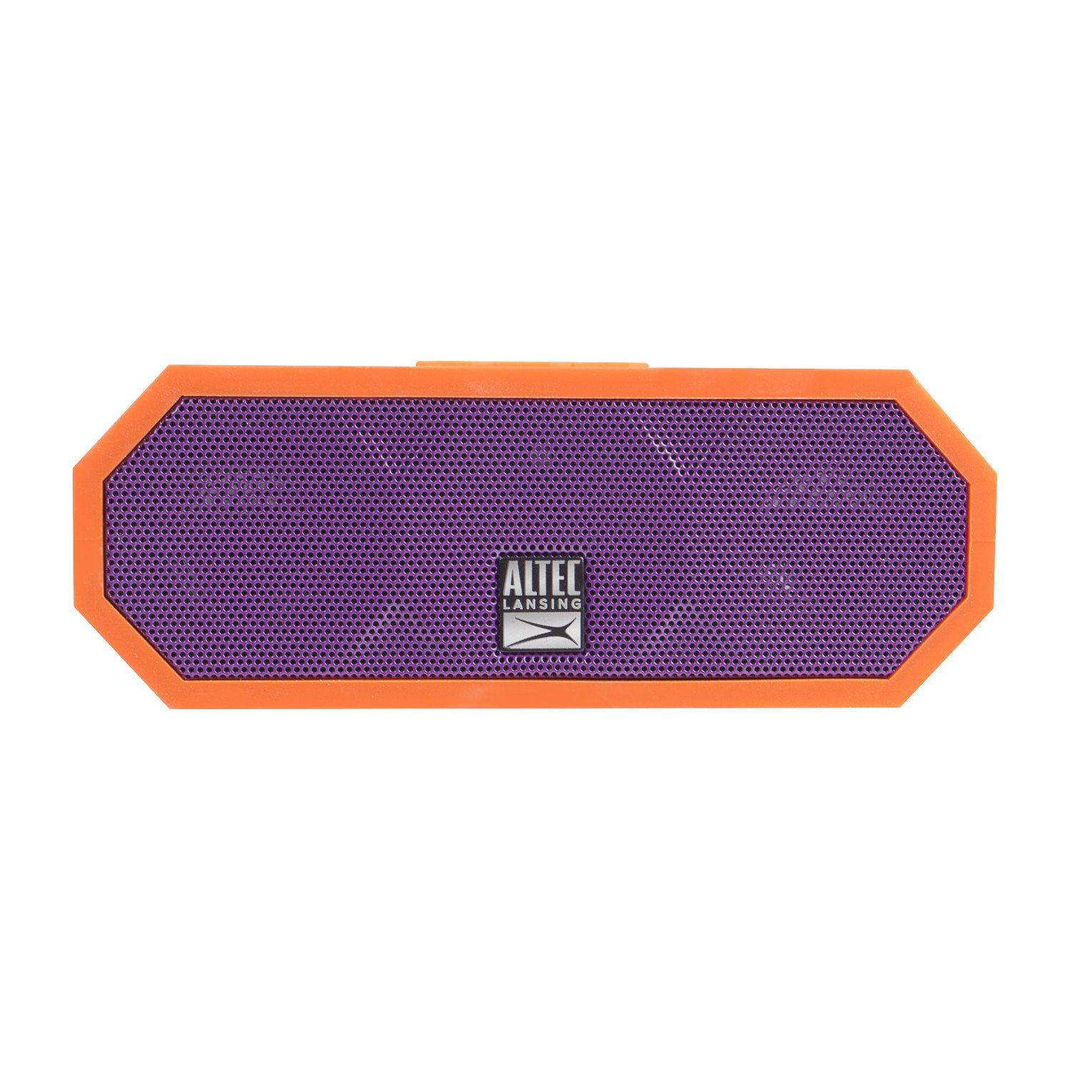 Altec Lansing IMW448-ORP Jacket H2O 3 Wireless Bluetooth Waterproof Floatable Speaker with 100 Wireless Range, 10 Hours of Battery Life, and Stereo Pairing, Orange/Purple