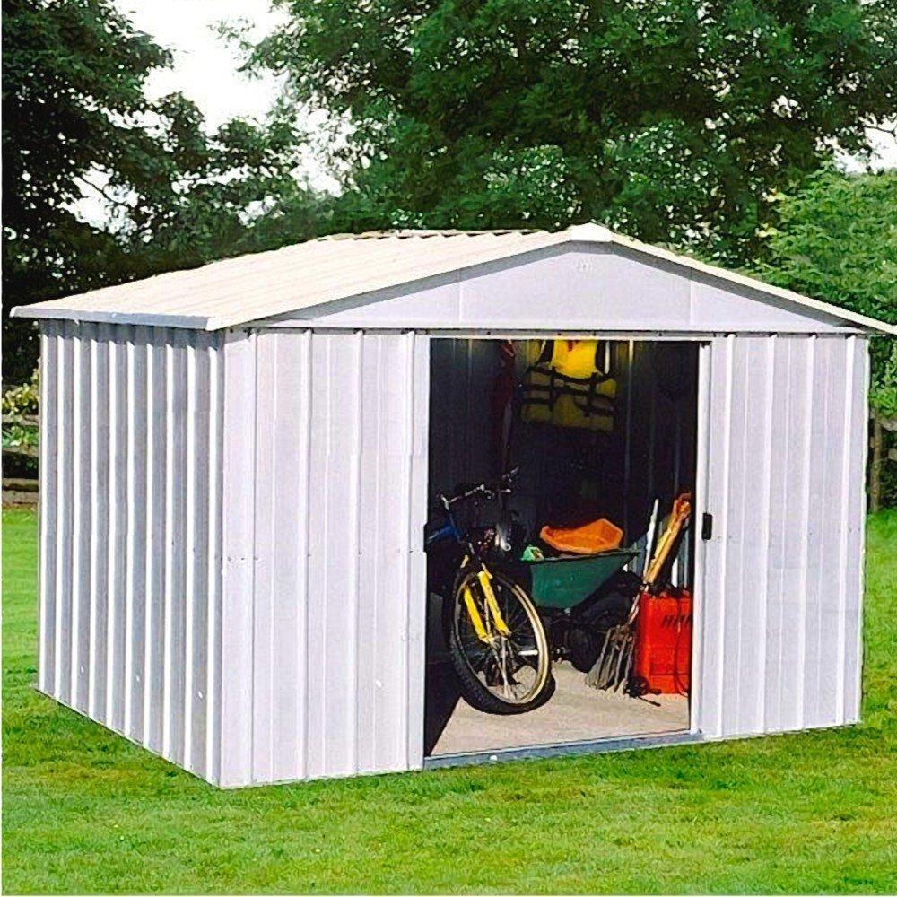 Casa de dispositivo yardmaster metal Sajonia 1010 Caseta jardín casa 8, 12 M² aprox: Amazon.es: Jardín