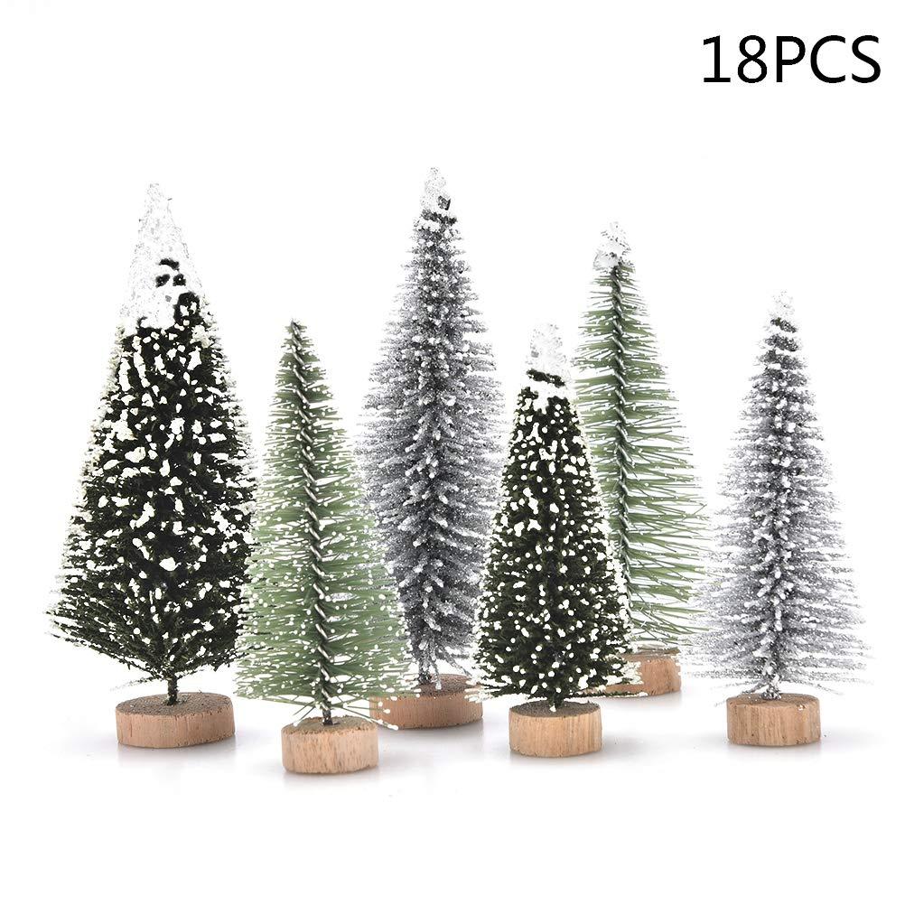 Peerless 18 PCS Miniature Christmas Tree Small Artificial Miniatures ...