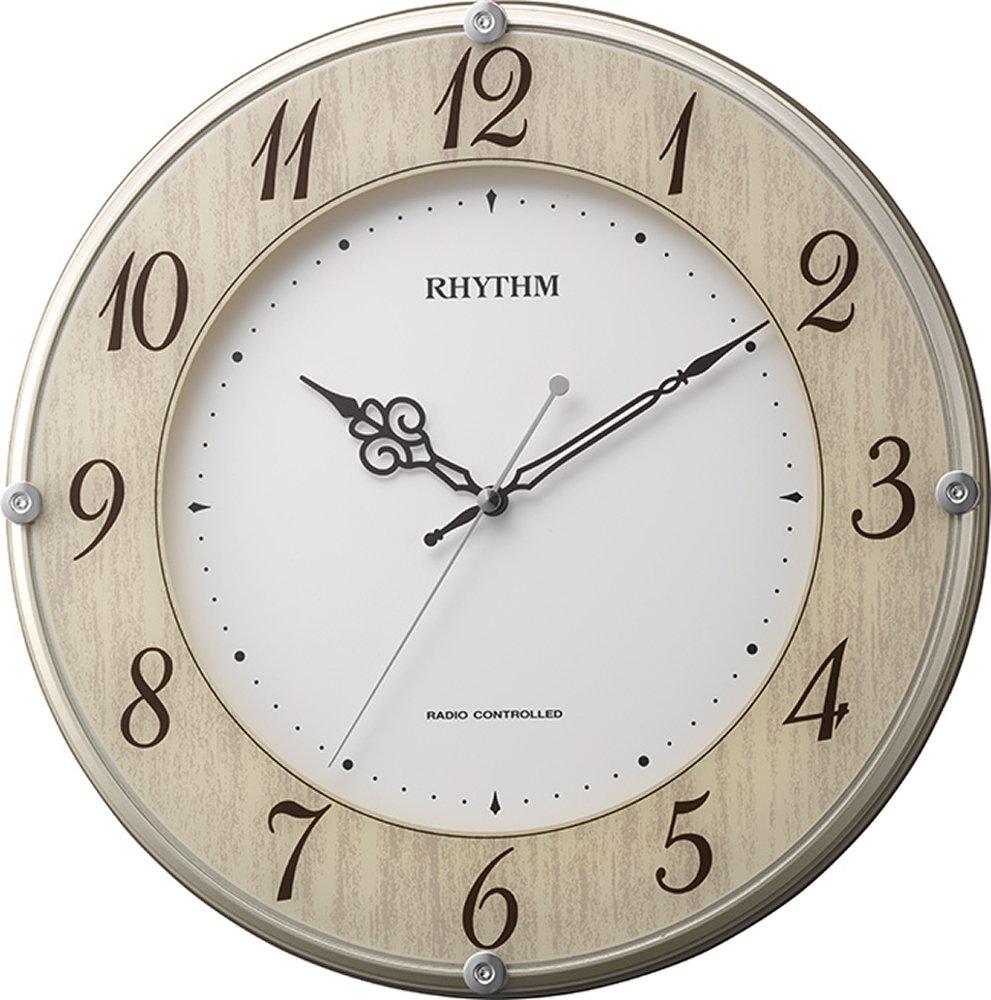 リズム時計 RHYTHM 電波 掛け時計 ライブリーナチュレ 木目仕上げ 8MY506SR23 B01DNIKF96