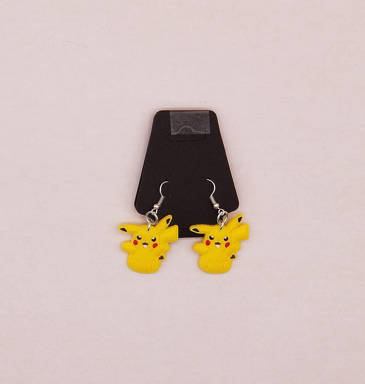 Pikachu Earrings Lead and Nickle Free Fishhooks Handmade