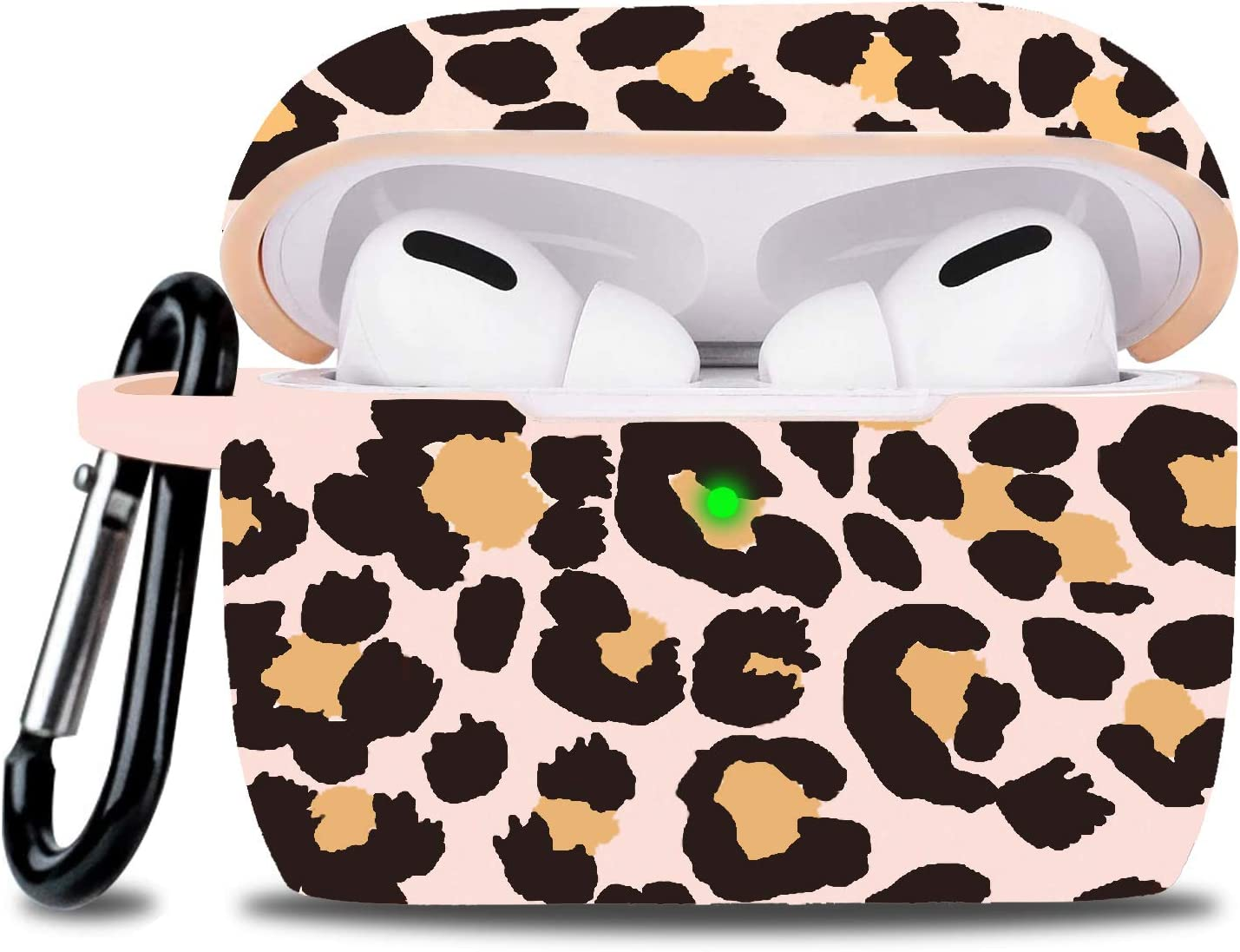 Airpod Pro Case Soft Silicone - LitoDream Case Cover Flexible Skin for Apple AirPods Pro Charging Case Cute Women Girls Protective Skin with Keychain - Leopard