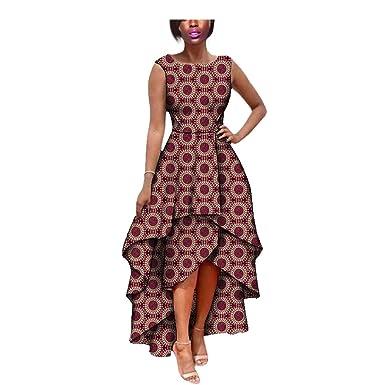 Womens African Dresses Foral Skirt Print Dashiki Mermaid 100 Cotton