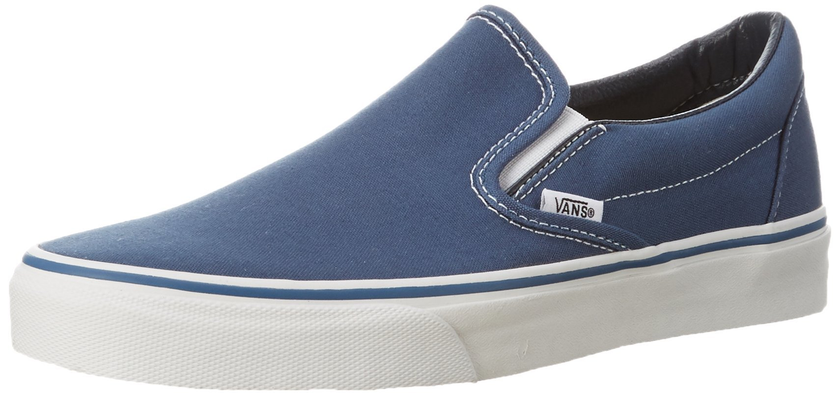 Vans Unisex Classic Slip-On(tm) Core Classics Navy Sneaker Men's 7.5, Women's 9 Medium by Vans