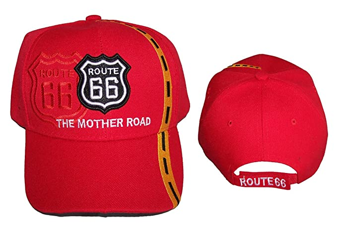 ed77a28842 Route 66 The Mother Road Baseball Caps Hats For Adults Embroidered ...
