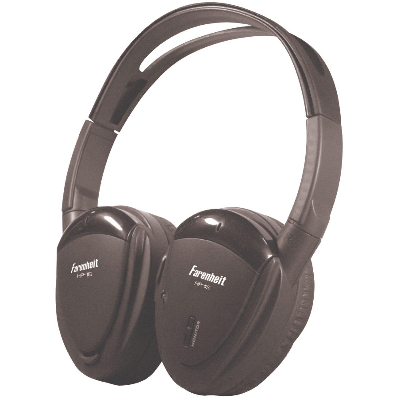 Farenheit HP-11S Swivel Ear Pad Single Channel Infrared Wireless Headphones by Fahrenheit
