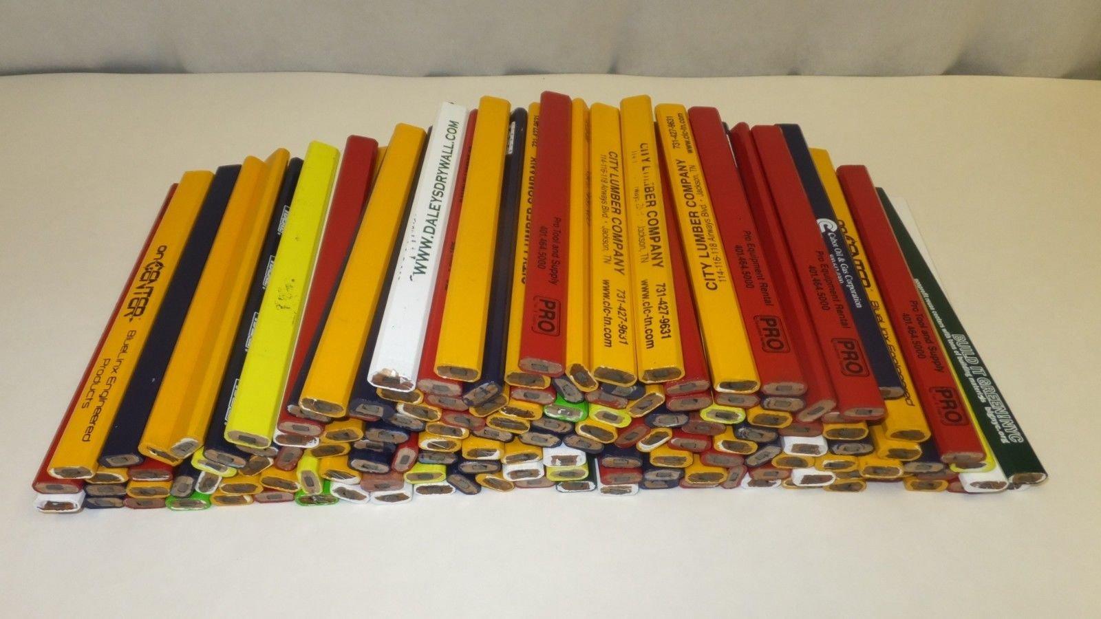 144 Lot Misprint Woodcase Carpenter Pencils, #2 Lead, Bulk Wholesale Lot by Closeouts For Less
