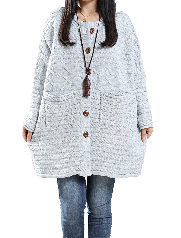 Fancy beautystyle Women's cotton sweater coat loose short jacket cardigan sweater