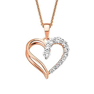 Goldmaid Halskette Kette 925er Sterlingsilber Zirkonia rosé Herz Echtschmuck NEU