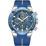 Relojes para Hombre Reloj cronógrafo Impermeable Deportivo con Correa de Silicona, Fecha, Reloj de Pulsera de Cuarzo…