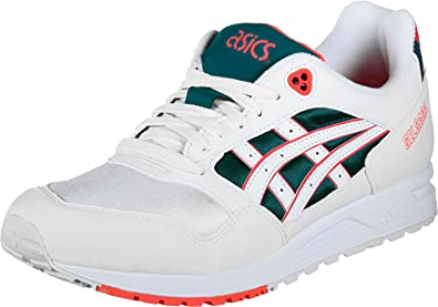 afd79adf72 ASICS Tiger Men's Gelsaga White and Flash Coral Leather Sneakers-11 ...