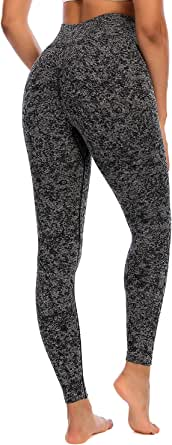 RUNNING GIRL Camo Butt Lift Leggings for Women, Seamless Ruched High Waisted Yoga Pants Tummy Control Gym Workout Tights