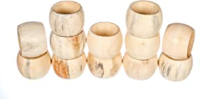 Spring Napkin Rings Set of 12, Wooden Serviette Holders, Round Serviette Rings Bulk for Party Decoration, Dinning Table, Everyday, Family Gatherings - A great Tabletop Décor - Natural