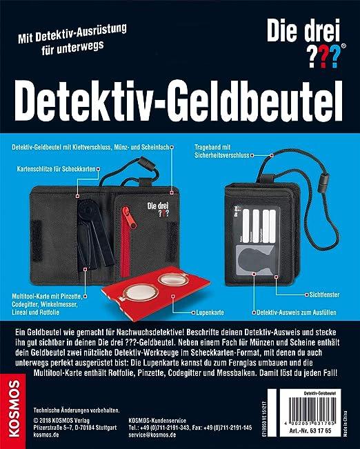 7594f36cd3261 KOSMOS 631765 - Die drei     Detektiv-Geldbeutel  Amazon.de  Spielzeug