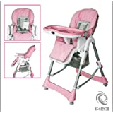 G4RCE Foldable 3 in 1 Baby Toddler Child Kids Infant Highchair Feeding Recliner Adjustable Seat Chair in Pink & Blue (Pink)