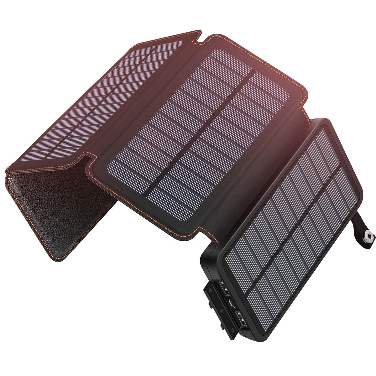 SOARAISE Solar Charger 25000mAh Portable Power Bank with 2 USB Output Waterproof Battery Pack Compatible with Most Phones, Tablets and More by SOARAISE
