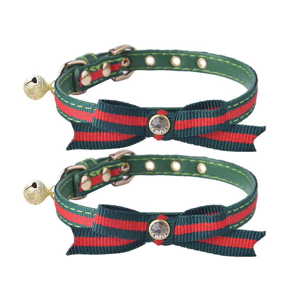 2 pcs/set Adjustable Breakaway Cat Collar with Bell Charm BeiBao PCC001_ORD