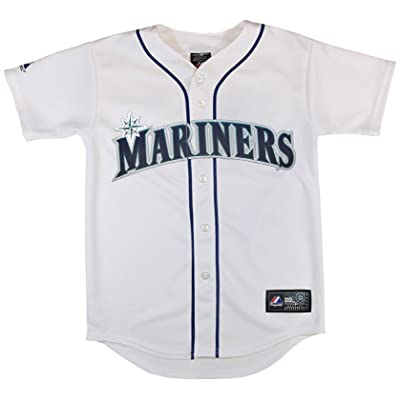 OuterStuff Seattle Mariners Blank White Kids Authentic Home Jersey