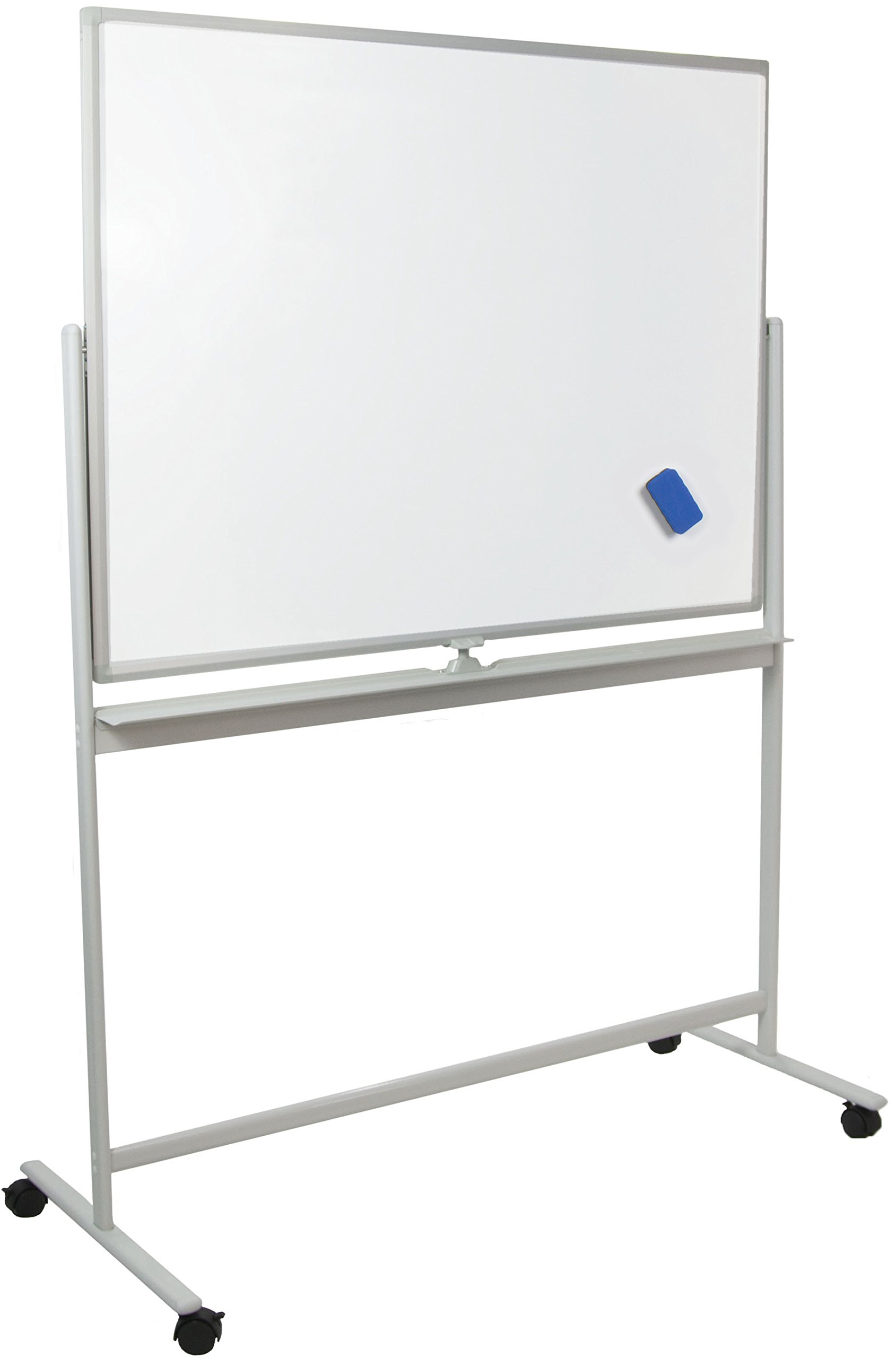 VIVO Mobile Dry Erase Board 48'' x 32'' Double Sided Magnetic Whiteboard Aluminum Frame Rolling Stand (CART-WB48S)