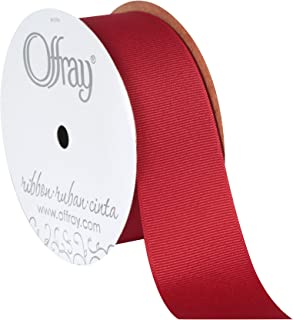 """product image for Berwick Offray 1.5"""" Grosgrain Ribbon, Red, 10 Yards"""