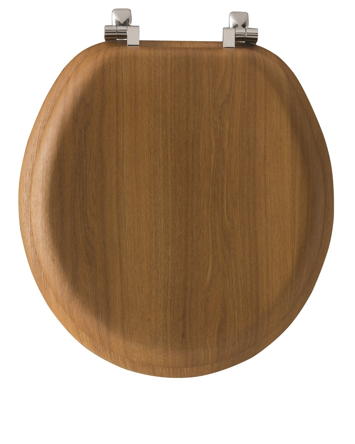 Mayfair Natural Reflections Toilet Seat With Chrome Hinges