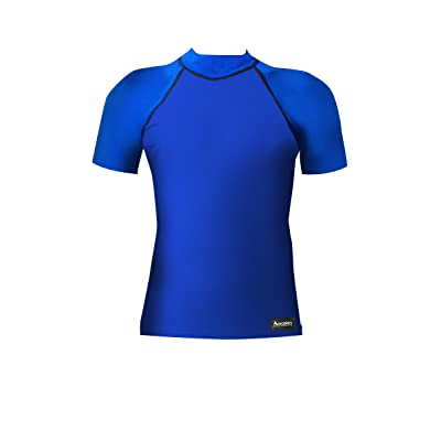 Aeroskin Nylon Short Sleeve Rash Guard, Solid Colors: Clothing