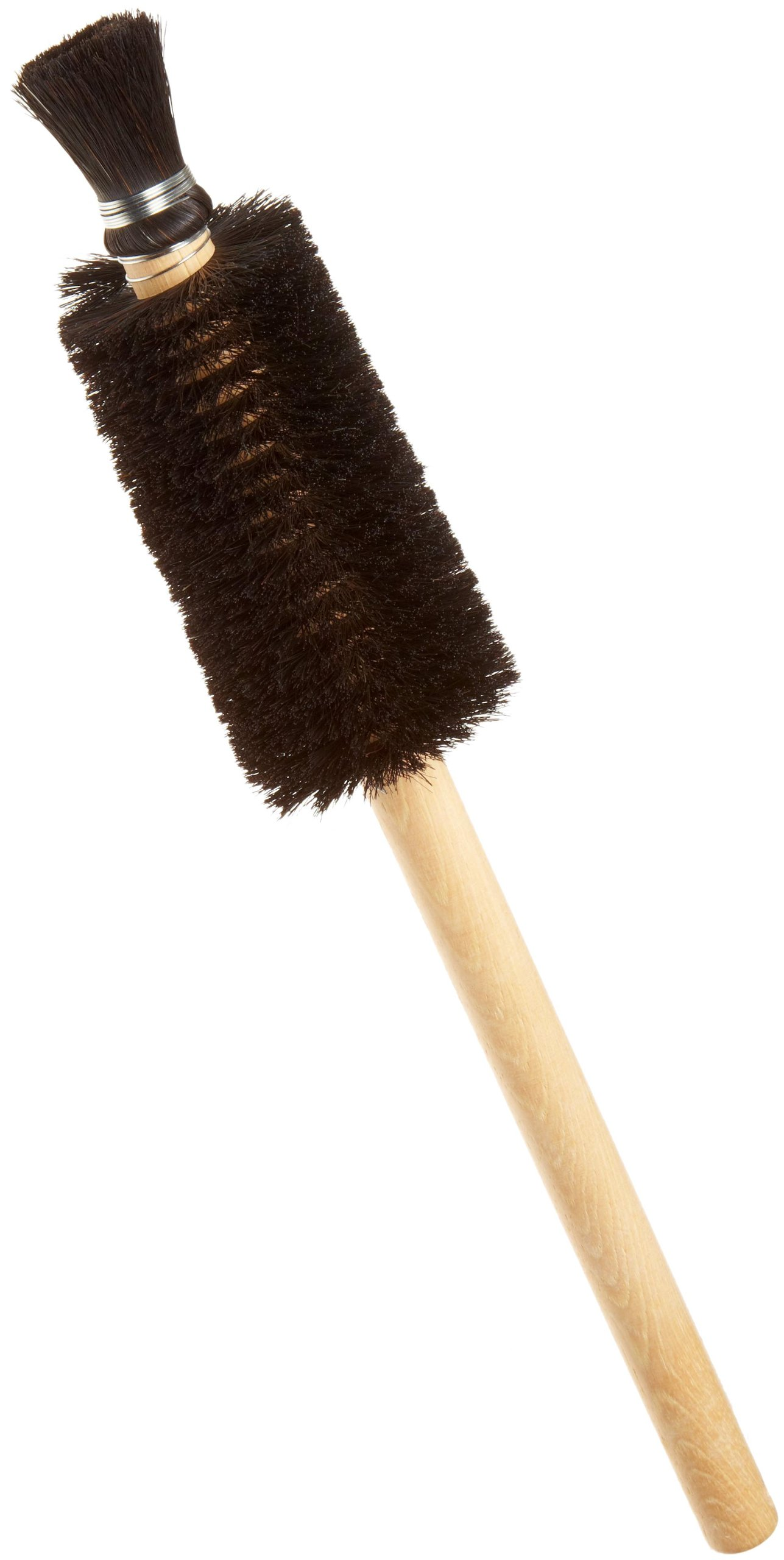 Weiler 99594 Horsehair Utility Brush with Wood Handle, 1'' Head Width, 16'' Overall Length, Natural