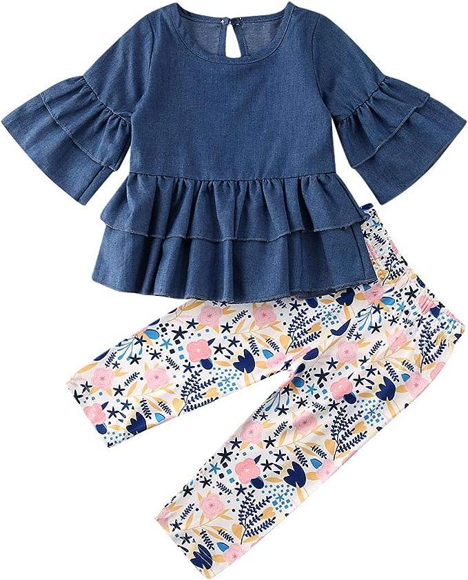 Zweiteiliges Set Leopard Kinder Babykleidung Mädchen mit Kapuze Top Outfit Set