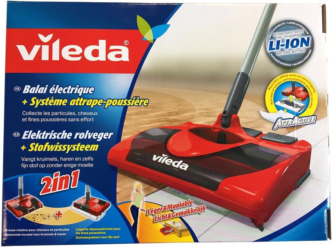 Vileda 123186 - Escoba eléctrica inalámbrica y recargable, práctica y ligera, apta para cualquier superficie (importado de Italia, instrucciones en italiano): Amazon.es: Hogar