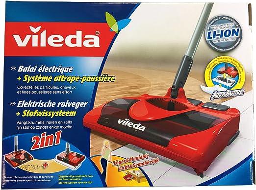 Vileda 123186 - Escoba eléctrica inalámbrica y recargable ...