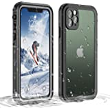 Janazan iPhone 11 Pro Waterproof Case, 360 Full Body Clear Protective Case with Built-in Screen Protector, Waterproof…