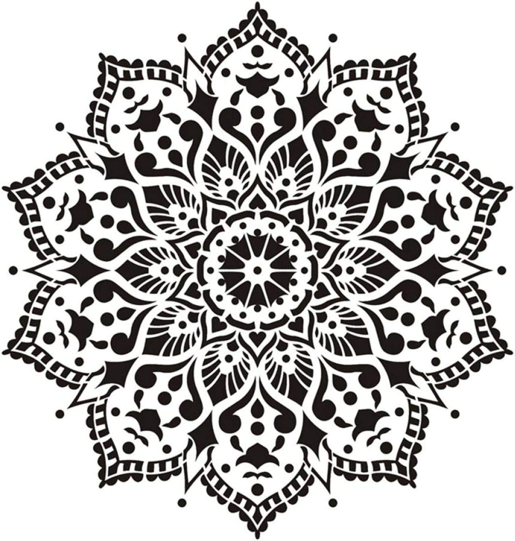 None 1 30Cm Size DIY Craft Layering Mandala Stencil for Wall Painting Scrapbooking Stamping Album Decorative Embossing Paper Card Letitia Rational 30