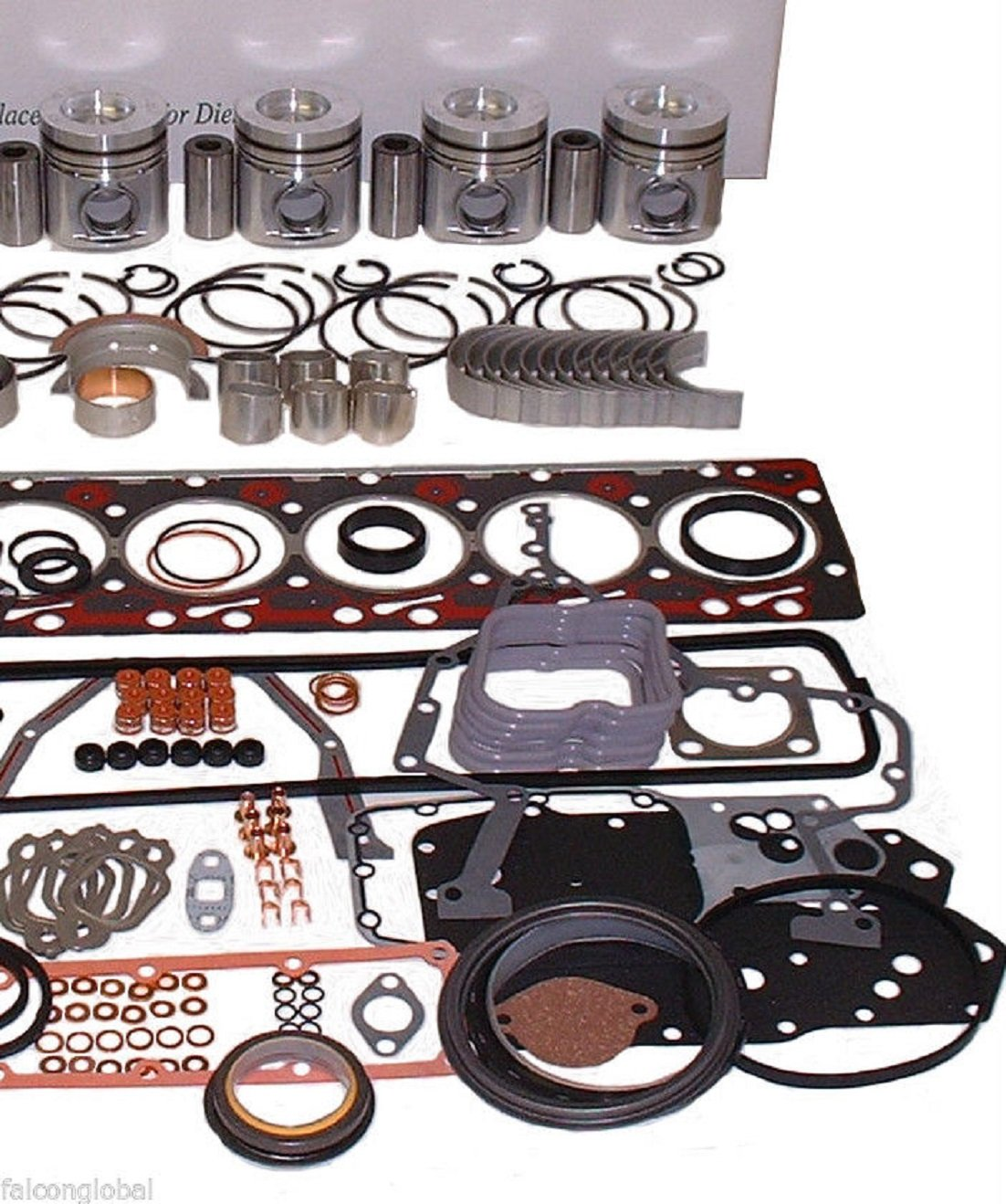 Isuzu Hyster Komatsu Engine Kit Diesel C240 Forklift Toyota 4y Timing Marks Pistons Rings Gaskets Stock Automotive
